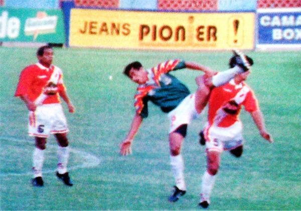El mayor suceso que alcanzó Los Gigantes del Cenepa fue disputar la Finalísima de la Copa Perú en 1997 cuando cerró su campaña cayendo ante el campeón José Gálvez (Recorte: diario El Bocón)