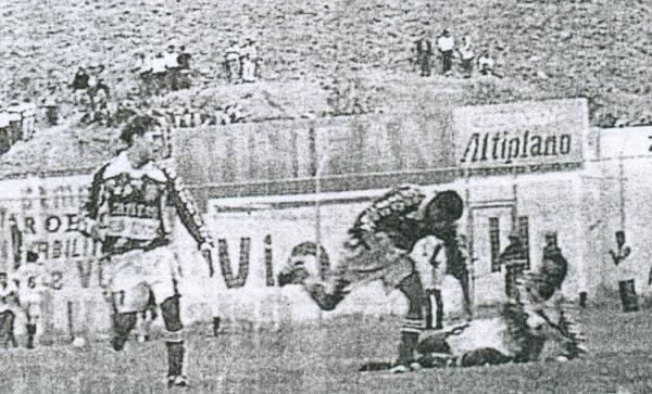 En 2000, Bolognesi goleó 0-5 a León en Huánuco, y una semana luego lo aplastó 9-0 en Tacna. (Recorte: diario Ahora de Huánuco)