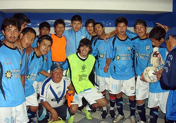 El vestuario de Real Garcilaso en la temporada 2009 con rostros que ahora cobran relevancia por ser los que iniciaron la historia de la 'Máquina Celeste' cusqueña (Foto: prensa Real Garcilaso)