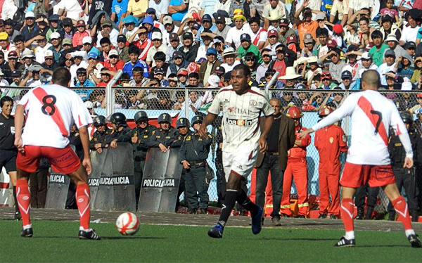 EL 'Pompo' Cordero se unió a esta selecta lista luego de superar más de un bache con UTC en la Copa Perú (Foto: Aldo Ramírez / DeChalaca.com, enviado especial a Cajamarca)