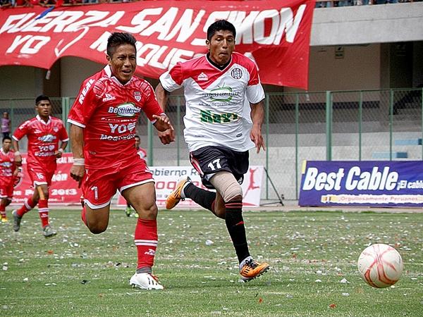 Jorge Rodríguez volvió a confirmar que fue el jugador más determinante en esta Etapa Nacional de la Copa Perú. Su doblete le permitió a San Simón mantener la ventaja de la ida. (Foto: Iván Carpio / DeChalaca.com)