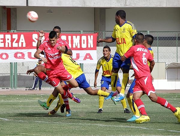 A pesar que Alipio Ponce estaba obligado a buscar la goleada, San Simón no pasó mucho apuros. (Foto: Iván Carpio / DeChalaca.com)