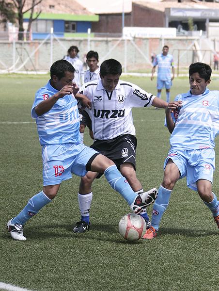 Universitario cuando enfrentó a Deportivo Garcilaso en la Liga Distrital del Cusco en la temporada 2013 (Foto: José Carlos Angulo)