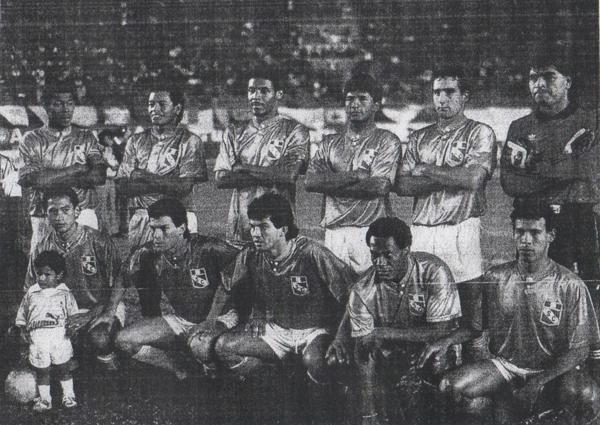 Alineación de Sporting Cristal que se consagró campeón en el Regional I. Franco Navarro era uno de los pilares en el frente de ataque (Recorte: diario El Comercio / suplemento Deporte Total)