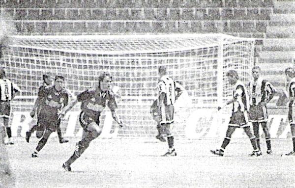Una imagen del partido que Melgar le ganó por 3-1 a Alianza en Arequipa durante el Octogonal Final. Ambos equipos animaron ese campeonato aunque, al final, ninguno obtuvo algo (Recorte: diario El Bocón)