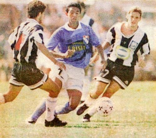 Nolberto Solano, una de las figuras del Cristal que obtuvo el tricampeonato en 1996 (Recorte: diario El Comercio)