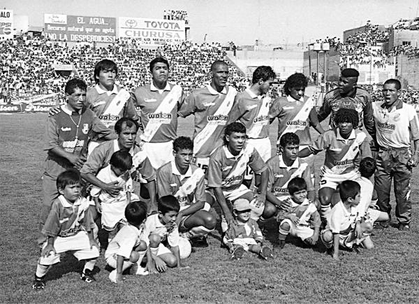 La alineación titular del Gálvez en su segundo retorno a la máxima división. (Foto: Diario de Chimbote)