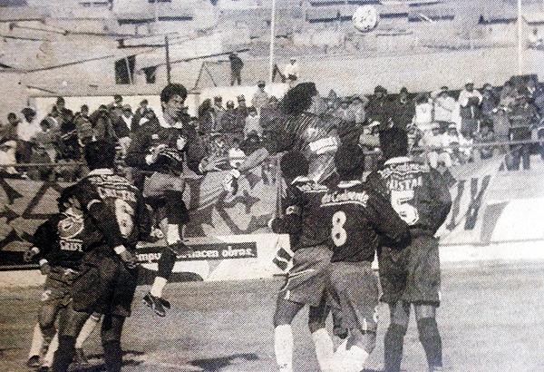 Primer enfrentamiento entre Torres y Flores. Fue en el Apertura 1997, Unión Minas vs. Cristal (Foto: El Bocón)