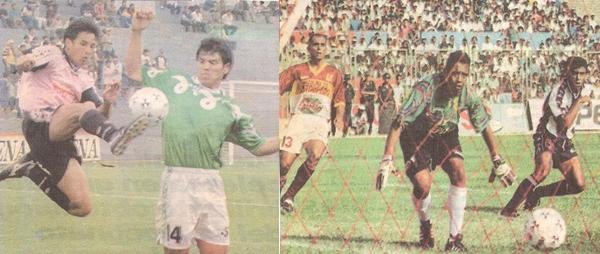 Boys - Vigo y Torino - Alianza, partidos por las fecha 13 del Clausura 1997 que se jugó en simultáneo y que definió dos descensos (Composición fotográfica: Kenny Romero / DeChalaca.com)