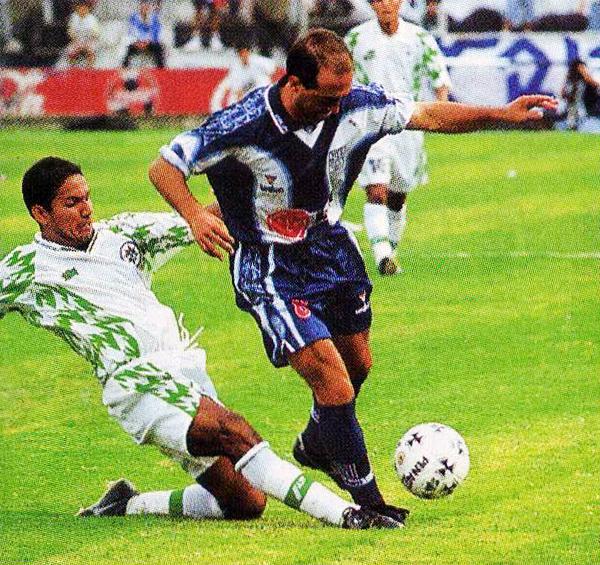 El día de su debut con Alianza no pudo ser mejor para Chiquinho al conseguir uno de los goles de su equipo ante el IMI de Talara (Recorte: revista Don Balón Perú)