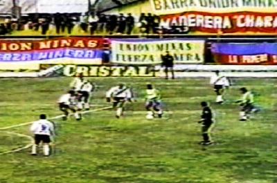Esta es la imagen de la máxima goleada de Unión Minas en su paso por Primera: le ganó 7-0 a Municipal en el Clausura 1999 (Foto: Captura)