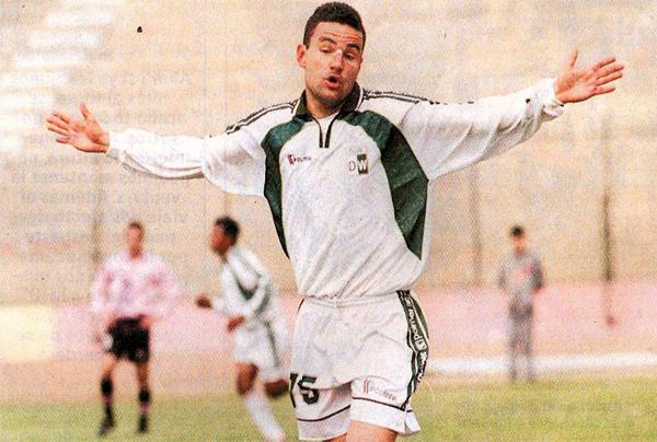 En su segunda temporada en el fútbol peruano le fue mejor a Dos Santos que con la camiseta del Wanka logró hacer sentir sus goles (Recorte: diario El Bocón)