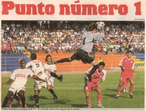 Aburridísmo estreno de la temporada 2005 en Tacna. Bolognesi y Universitario no se hicieron nada e igualaron sin abrir el marcador (Recorte: diario El Bocón)