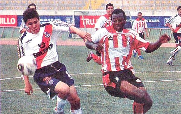 En la primera fecha del Apertura 2006, Huaral no tuvo piedad de Gálvez y le propinó un inobjetable 0-3. (Recorte: diario El Bocón)