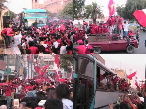 La fiesta del campeón se prolongó del estadio a las calles de la 'Heroica' (Fotos: radiouno.com.pe)