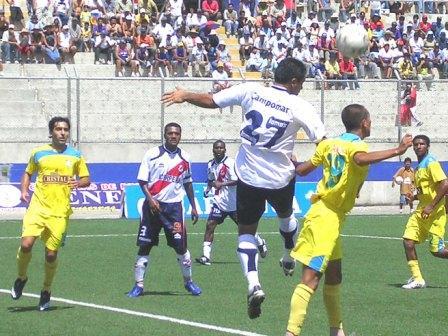 Los chimbotanos también tuvieron nula pesca de puntos, pese a abrir el marcador, contra Cristal en 2008 (Foto: Diario de Chimbote)