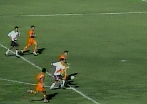 Gálvez pisando el estadio Huancayo por primera vez, frente a Minero por el Apertura del año pasado (Captura: CMD)