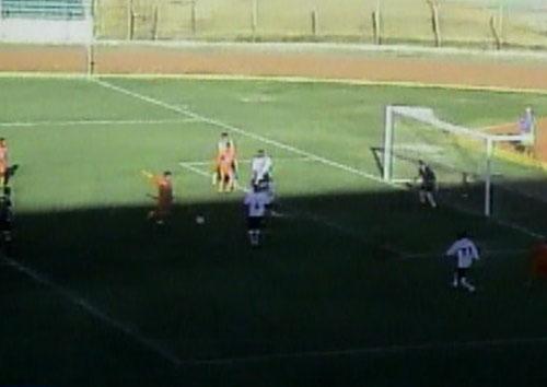 Con este remate a boca de jarro, Leiva marcó el empate transitorio para Minero (Captura: CMD)