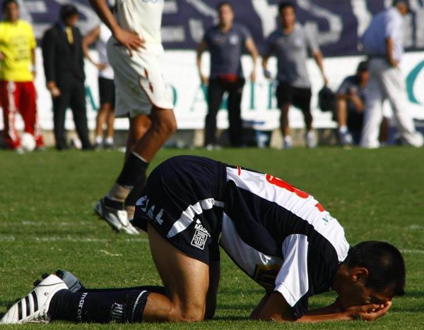 Así como Corrales quedó Alianza: en el lamento (Foto: Andrés Durand / DeChalaca.com)