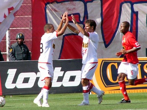 CLAUSURA – FECHA 25. Con un gol de Juan Barros y otro de Demus, 'Bolo' dio un nuevo golpe en Cuzco, esta vez para salvarse definitivamente de la baja. Fue empate 2 a 2 (Foto: DIARIO DEL CUZCO)