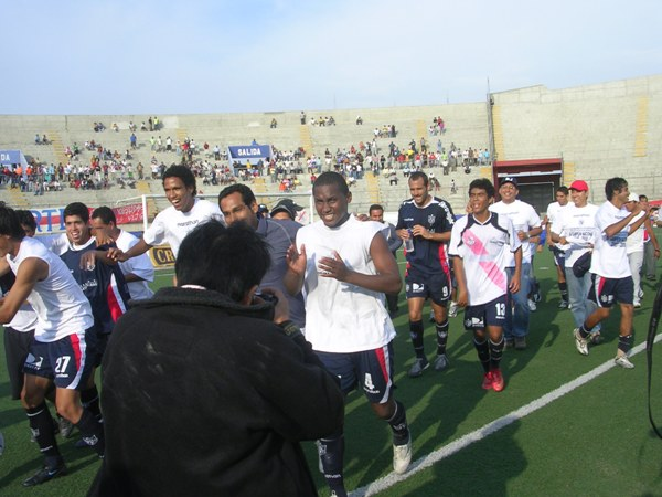 Un empate en Chimbote y otro en el Monumental le dieron su primer bicampeonato a la San Martín en 2008 (Foto: Diario de Chimbote)
