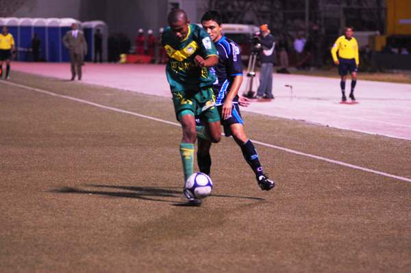 ANTICIPADO. Rivas le gana en presencia a Carbajal. Áncash guapeó en el Mansiche (Foto: diario La Industria de Trujillo)
