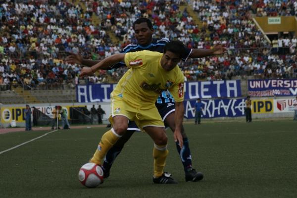 FECHA 01. Con gran actuación del 'Chino' Ximénez, Cristal se impondría por 2-3 a Vallejo. Fue el primer partido oficial de Víctor Rivera como entrenador cervecero. (Foto: diario La Industria de Trujillo)