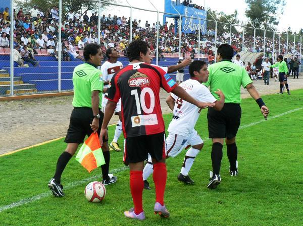 FECHA 03.  En su segunda salida de Arequipa, Melgar no correría la misma suerte de su debut y caería 2-1 ante Inti Gas en Ayacucho. (Foto: Ciro Madueño)