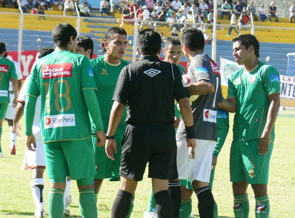 FECHA 14. No habían reclamos que hacer. CNI cayó fácilmente ante Inti Gas por 4-0 en Ayacucho. (Foto: Ciro Madueño)