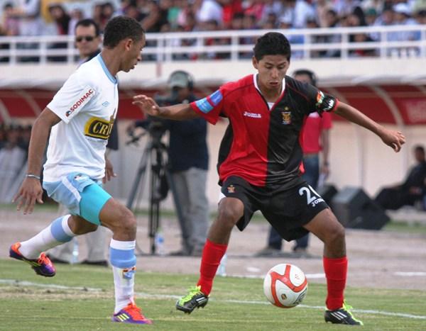 FECHA 16. Cristal nuevamente cayó derrotado. En Arequipa, los dirigidos por Wilmar Valencia vencieron 2-1 al elenco de Juan Reynoso. (Foto: Prensa Melgar)
