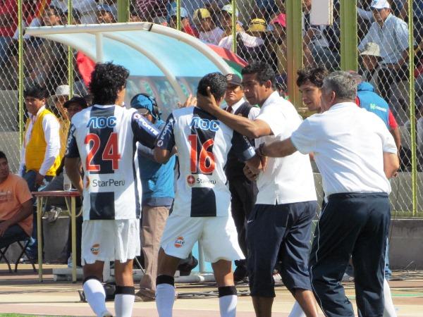 VIENE BIEN. Luego de su primera presentación oficial con la selección mayor en La Paz, Hurtado elevó su nivel y fue una de las figuras en Moquegua. (Foto: diario La Prensa Regional de Moquegua)