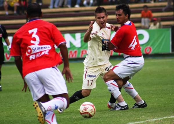 FECHA 23. Leiva fue el verdugo de Comercio con una anotación que le valió la victoria por 1-0 al elenco crema en Huánuco. (Foto: Jesús Suárez Villarreal)