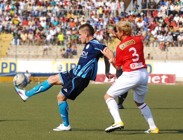 FECHA 30. César Vallejo sufrió pero logró vencer a un complicado Juan Aurich por 1-0. Gracias a este triunfo, el conjunto trujillano se mantuvo en Primera División. (Foto: diario La Industria de Trujillo)