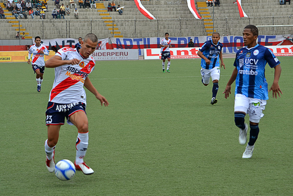 Ante la ausencia del 'Toro' Arzuaga, fue Osnar Noronha quien asumió el peso ofensivo de Gálvez y, si bien no lo hizo mal, la diferencia se sintió en materia de definición (Foto: Diario de Chimbote)