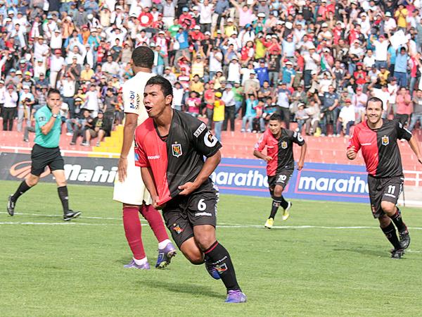 EL CAPO: La ruta del triunfo en Arequipa la marcó Ángel Ojeda con un gol que le facilitó el triunfo a Melgar (Foto: prensa FBC Melgar)