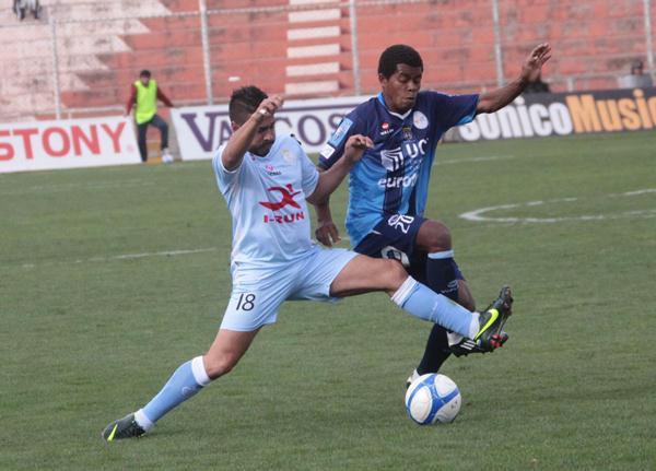 LA FRECUENCIA El equipo de Metro Deportivo de Radio Metropolitana del Cusco, integrado por Walter Flores y Vidal Aragón brindó una cobertura impecable del partido, donde se omitió ningún detalle. (Foto: José Carlos Angulo)