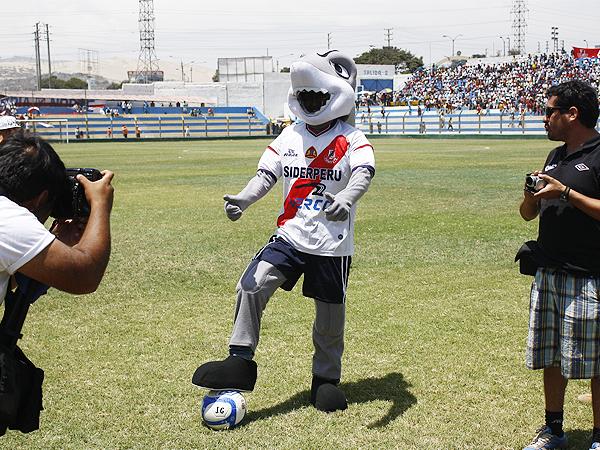 El tiburón que José Gálvez presentó como mascota oficial durante la temporada 2013 (Foto: Diario de Chimbote)
