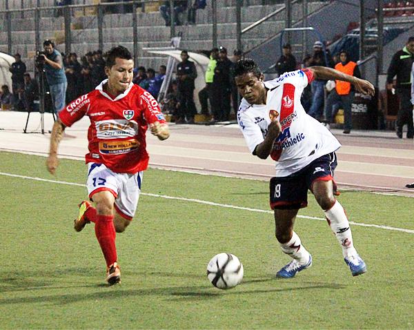 Con Gálvez prácticamente descendido, solo falta definir si Unión Comercio también se une a los chimbotanos en la Segunda División de 2014 (Foto: Héctor Inti / Diario de Chimbote)