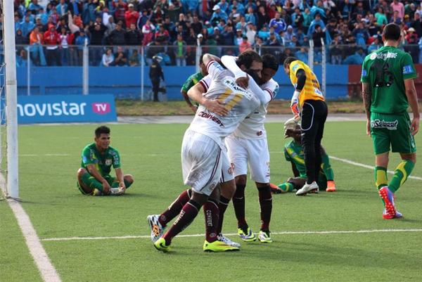En la jornada final del Clausura 2014 UTC venció a Sport Huancayo y lo mandó a jugar un partido extra para salvar la categoría (Foto: Alfredo Palomino)