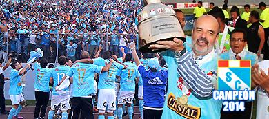 Federico Cúneo, Sporting Cristal, campeón 2014