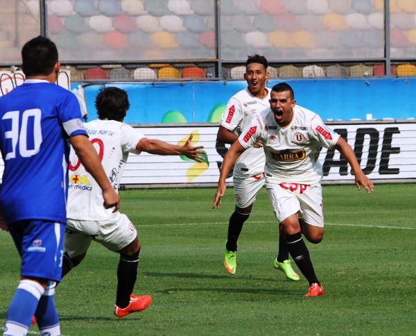 Quiñones y su grito madrugador ante Alianza Atlético. (Foto: ANDINA)