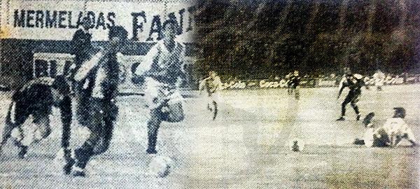 Clásico de 1997: Sáenz supera a Ibáñez y Pereda, pero la sorpresiva presencia de Carranza lo desequilibra. (Recortes: diario El Bocón)