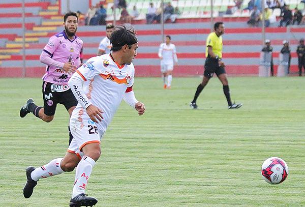 Robert Ardiles fue el conductor de Ayacucho, jugando más lanzado al sector derecho. (Foto: Prensa Ayacucho FC)