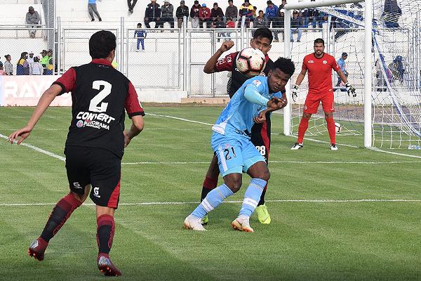 Marco Aldair Rodríguez consiguió un golazo para los celestes. (Foto: David Ramos / DeChalaca.com)
