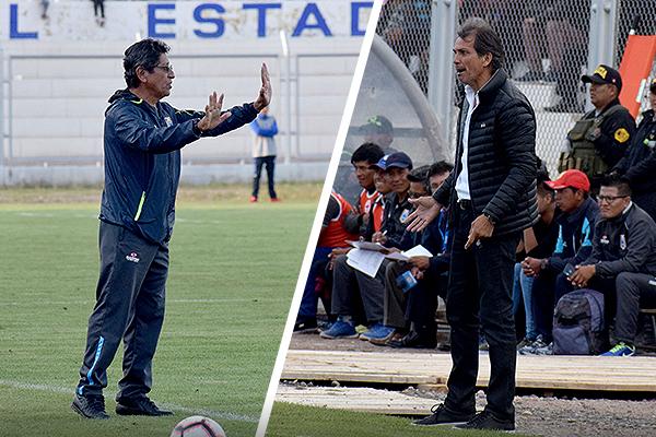 Duelo de técnicos peruanos en Juliaca. Javier Arce ganó. (Foto: David Ramos / DeChalaca.com)