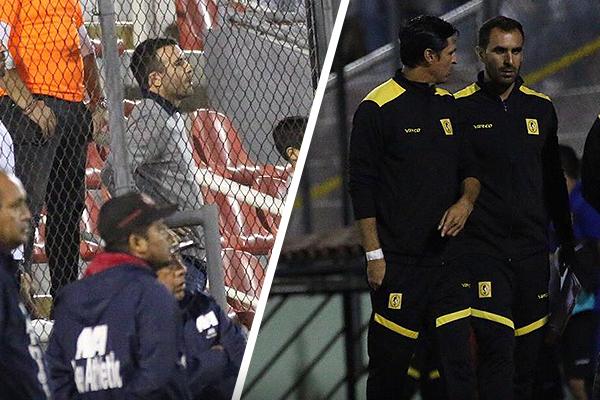 Manuel Fernández tuvo que ver el partido tras las rejas, aunque con más intensidad por el debut que Jorge Araujo. (Foto: Pedro Monteverde / DeChalaca.com)
