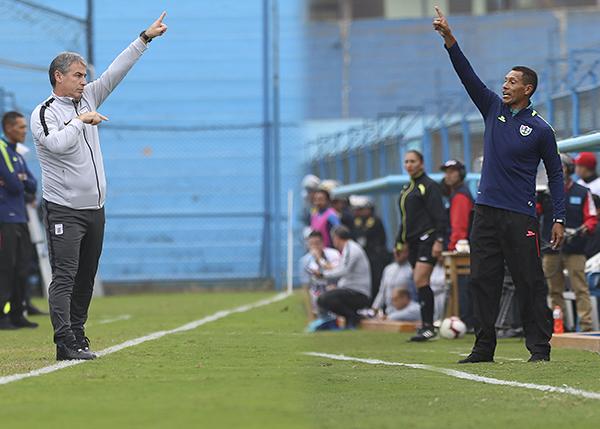 El segundo debut fue tanto para Bengoechea como para Manzo -que ya había sido interino hace algunas jornadas-, y ambos imitaron esquemas. (Foto: Fabricio Escate / DeChalaca.com)