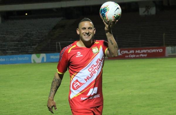 Neumann, símbolo y sinónimo de gol de Huancayo por segundo año consecutivo. (Foto: Juan Aquino / DeChalaca.com)