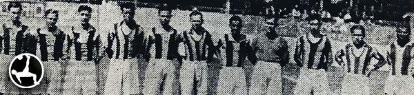 Al margen de la sanción, 'Pipo' Ortega siguió ligado al fútbol. (Recorte: diario La Crónica)