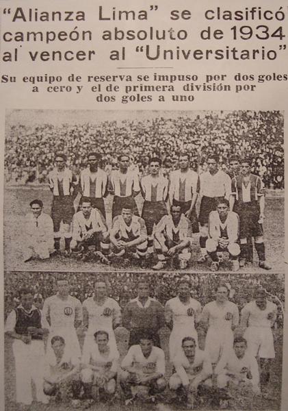 Página central del diario El Comercio el día 19 de noviembre de 1934. En dicho material periodístico, la afirmación es contundente (Foto: Recorte: diario El Comercio)